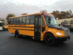 Thomas Saf-T-Liner C2 school bus; seats 47 children or 31 high school students; diesel engine, automatic transmission, Air Conditioning